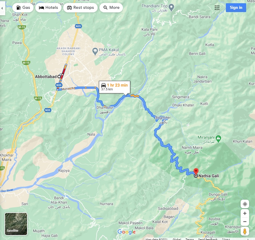 Nathiagali History and Location how to reach
